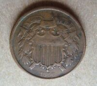 1866 2C 2 CENT COPPER US COIN - COMBINED SHIPPING