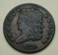 1829 CLASSIC HEAD HALF CENT, VF/EXTRA FINE      EYE APPEAL