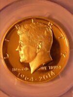 2014 PCGS PR70 KENNEDY GOLD HALF-DOLLAR - 50TH. ANNIV. 1964-2014 CHICAGO AUGUST