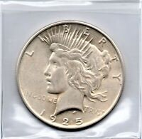 PEACE SILVER DOLLAR 1925 AS PICTURED 90 SILVER