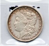 MORGAN SILVER DOLLAR 1880 AS PICTURED WONDERFUL TONING