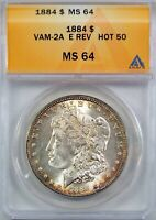 1884 $1 MORGAN SILVER DOLLAR VAM 2A