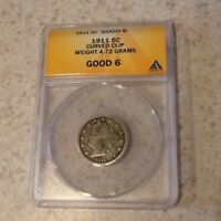 1911 5 CENT LIBERTY NICKEL ANACS G6