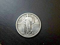 1917-D TYPE I STANDING LIBERTY QUARTER- F CONDITION