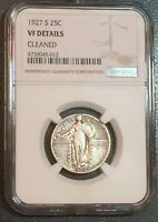 1927 S STANDING LIBERTY QUARTER - NGC GRADED VF DETAILS.  LOW MINTAGE- 396 K