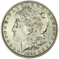 1892-S MORGAN DOLLAR   AU ABOUT UNCIRCULATED INVDJ5