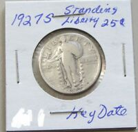 KEY DATE 1927-S STANDING LIBERTY QUARTER