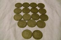 LIBERTY NICKELS--1910-1911- COINS-LOT OF 17-