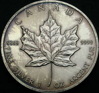 CANADA 5 DOLLARS 1989   SILVER   MAPLE LEAF   AUNC   3166