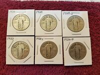 STANDING LIBERTY QUARTER LOT.. 6 DIFFERENT DATES AND MINTS