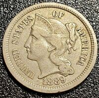 1889 3 CENT NICKEL XF ONLY 18 125 MINTED