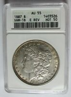 1887 P MORGAN DOLLAR VAM 1B HOT 50 CLASHED E REVERSE EPIC TY IN THIS GRADE