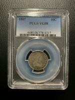 1807 DRAPED BUST DIME PCGS VG08 LIBERTY 10C DOLLAR SILVER HERALDIC EAGLE HAIR