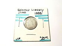 1888 SEATED LIBERTY DIME VF   167