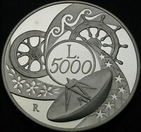 ITALY 5000 LIRE 1999R PROOF   SILVER   TOWARDS 2000: THE EAR