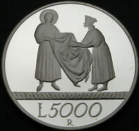 ITALY 5000 LIRE 1999R PROOF   SILVER   TOWARDS 2000: THE SOL