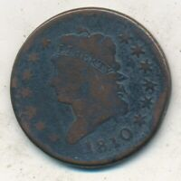1810 CLASSIC HEAD LARGE CENT- CIRCULATED EARLY LARGE CENT-SHIPS FREE INV:2