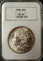 1902 MORGAN DOLLAR - MINT STATE 64 - NGC - 194260-013