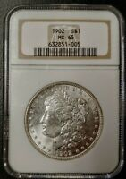1902 MORGAN DOLLAR - MINT STATE 65 - NGC - 632851-005