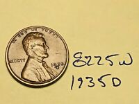 1935-D 1C BN LINCOLN CENT WHEAT CENT 8225W