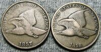 1857 AND 1858 FLYING EAGLE CENT PENNY LOT ---- TYPE COIN LOT ----  W497
