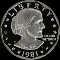 1981 S SUSAN B ANTHONY PROOF DOLLAR US MINT COIN SBA