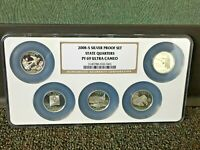2008 S SILVER PROOF QUARTERS NGC PF 69 ULTRA CAMEO 90