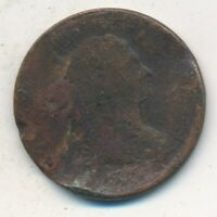 1805 ? DRAPED BUST HALF CENT-WELL CIRCULATED EARLY TYPE COIN-SHIPS FREE