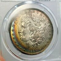 1888-O VAM 1B SCARFACE MORGAN SILVER DOLLAR PCGS MINT STATE 63 TOP 100  AWESOME TONER