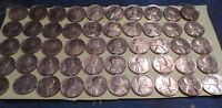 50 1945P VG-VF IN GRADE POLISHED LINCOLN WHEAT PENNIES.