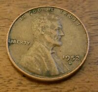 1952 D 1CENT LINCOLN WHEAT CENT-AS IS-SHIPS FREE