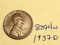 1937-D 1C BN LINCOLN CENT 8294W WHEAT CENT VF