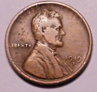 1919 S LINCOLN WHEAT CENT PENNY - NOT STOCK PHOTOS - -  SHIPS FREE