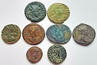 8 NICE ROMAN COINS FOR RESEARCH AND ATTRIBUTION.6 X BRONZE