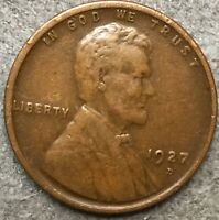 1927 D HIGHER GRADE VF LINCOLN WHEAT CENT PENNY. X727 FREE SHIP