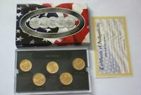 2006 UNITED STATES 50 STATE QUARTERS 24K GOLD MINT 5 COIN SE