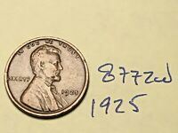 1925 1C BN LINCOLN CENT 8772W WHEAT CENT VG - F
