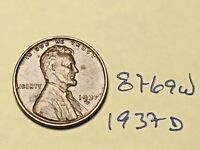 1937-D 1C BN LINCOLN CENT 8769W WHEAT CENT VF - EF