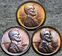1909 VDB 1921 1929 LINCOLN CENT WHEAT CENT LOT GEM BU CONDITION ---- W865
