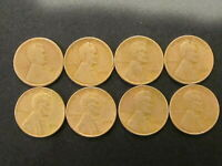 LOT OF 8 LINCOLN WHEAT CENT 1920 D,1935,1936,1937,1937 D,1938,1939 & 1939 S