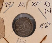 1891 SEATED LIBERTY SILVER DIME 23
