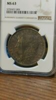 1888 MORGAN SILVER DOLLAR MINT STATE 63 NGC UNBELIEVABLE COLOR