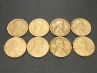 LOT OF 8 LINCOLN WHEAT CENT 1920 D,1920 S, 1934,1935,1936,1936 D, 1937 & 1939 S