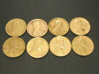 LOT OF 8 LINCOLN WHEAT CENT 1920 D,1921,1934,1935,1936,1937,1938 & 1939 S