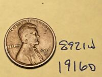 1916-D 1C BN LINCOLN CENT 8921W WHEAT CENT G - VG