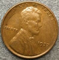 1937 P HIGH GRADE EXTRA FINE  LINCOLN WHEAT CENT PENNY. R728 FREE SHIP