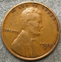 1937 D BETTER GRADE LINCOLN WHEAT CENT PENNY. R982 FREE SHIP
