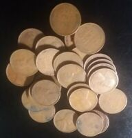 1934-P LOT OF 29 LINCOLN WHEAT CENTS - GOOD CIRCULATED CONDITION