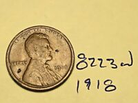 1918 LINCOLN CENT FINE DETAIL GREAT COIN WHEAT CENT 8223W