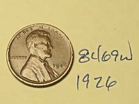 1926 1C BN LINCOLN CENT 8469W WHEAT CENT
